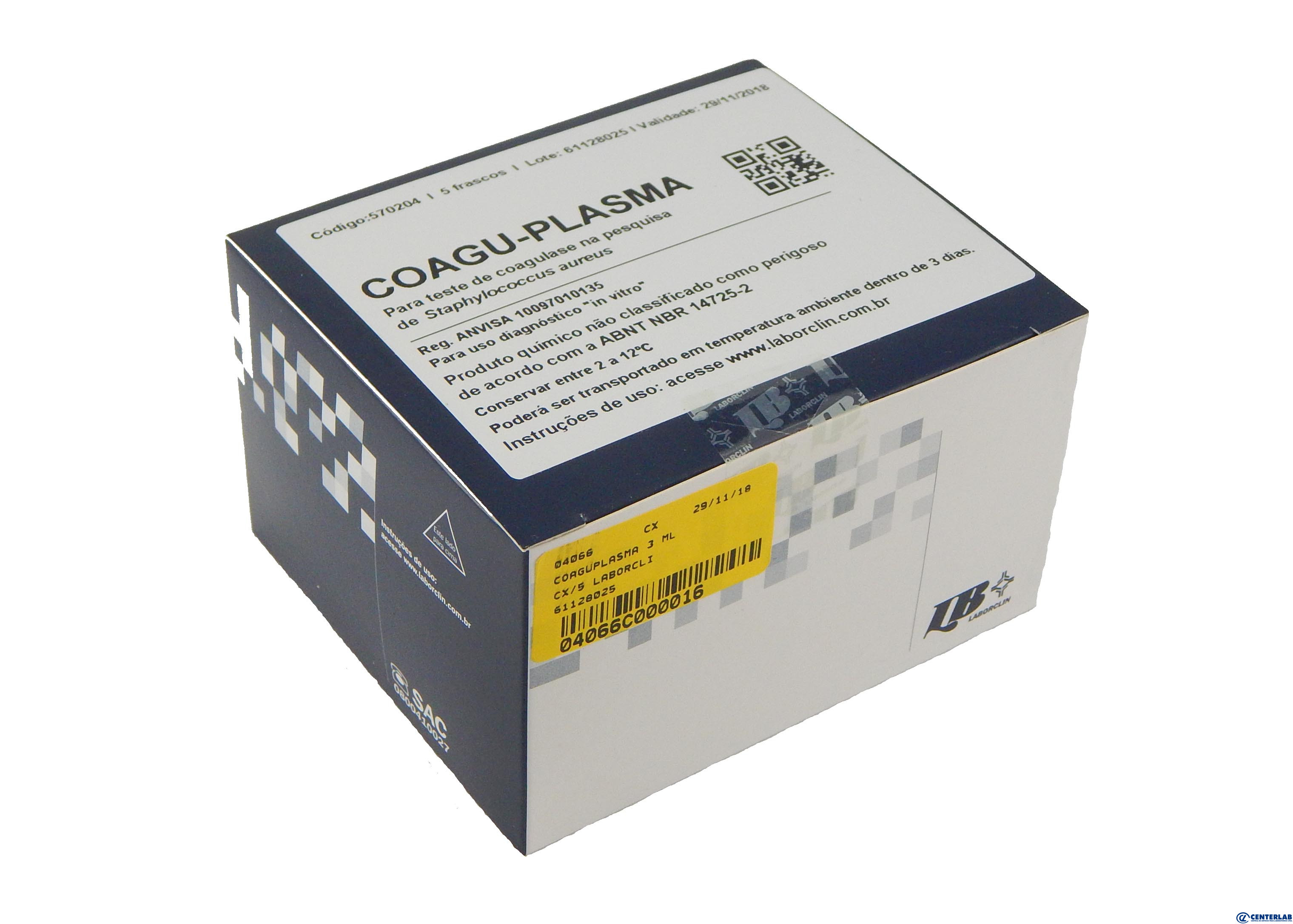 Coaguplasma 3 Ml     Cx/5 Laborclin  - Cod. 04066